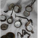A late Victorian silver hunter pocket watch,