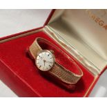 A Lady's 9ct yellow gold Omega wristwatch,