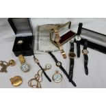 A 9ct yellow gold Gentleman's wristwatch, the silvered dial with batons,