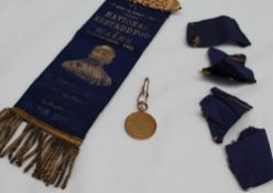 """A 9ct yellow gold medallion """"In honour of the Queen's command to Windsor Castle Feb."""
