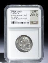 Lot 27d - Greek Attica Athena & Owl Tetradrachm - 17.04 g