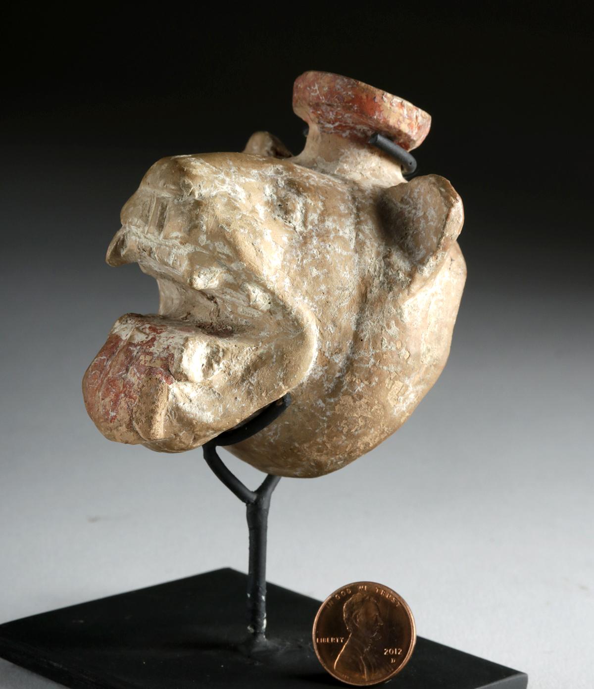 Lot 24 - Greek Pottery Aryballos of Lion Head, ex-Christie's