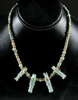 Lot 3d - Egyptian Necklace w/ Faience Amulets, Gold Beads
