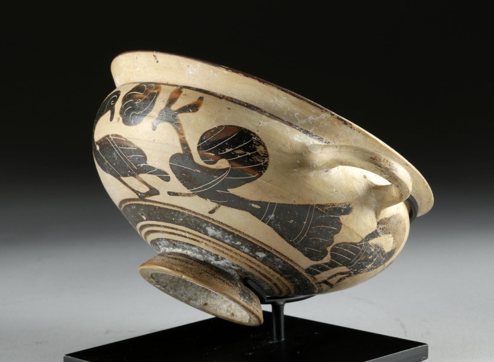Lot 22 - Lovely Greek Corinthian Pottery Kylix - Peacocks