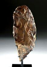 Lot 1a - Egyptian Middle Paleolithic Flint Knife