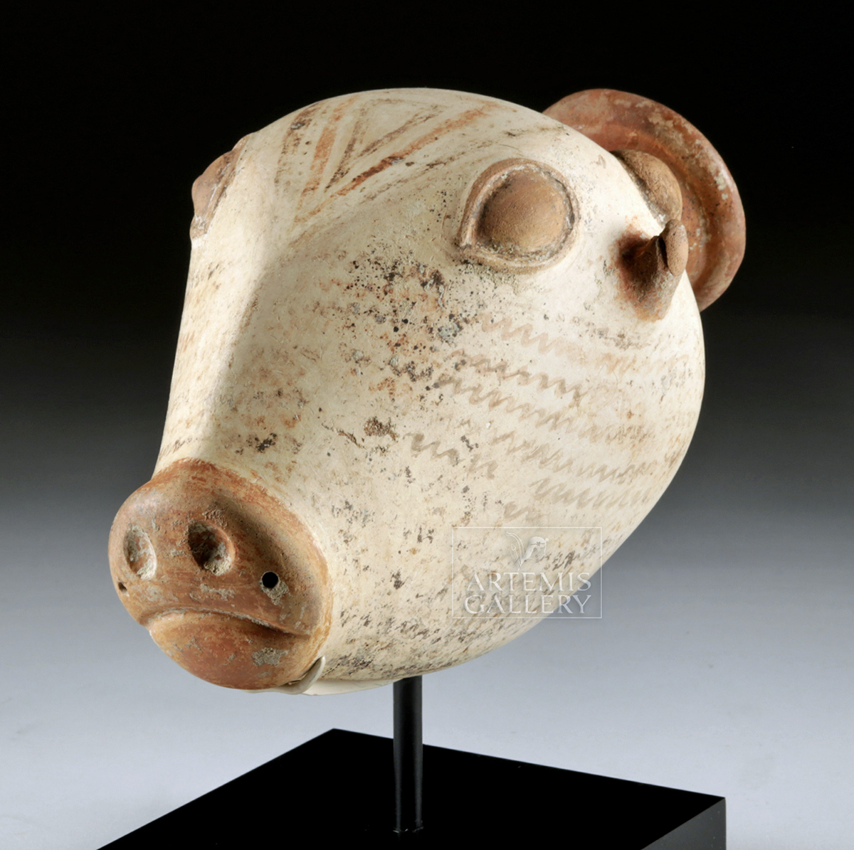 Lot 20b - Rare Greek Archaic Phrygian Pottery Bull Rhyton