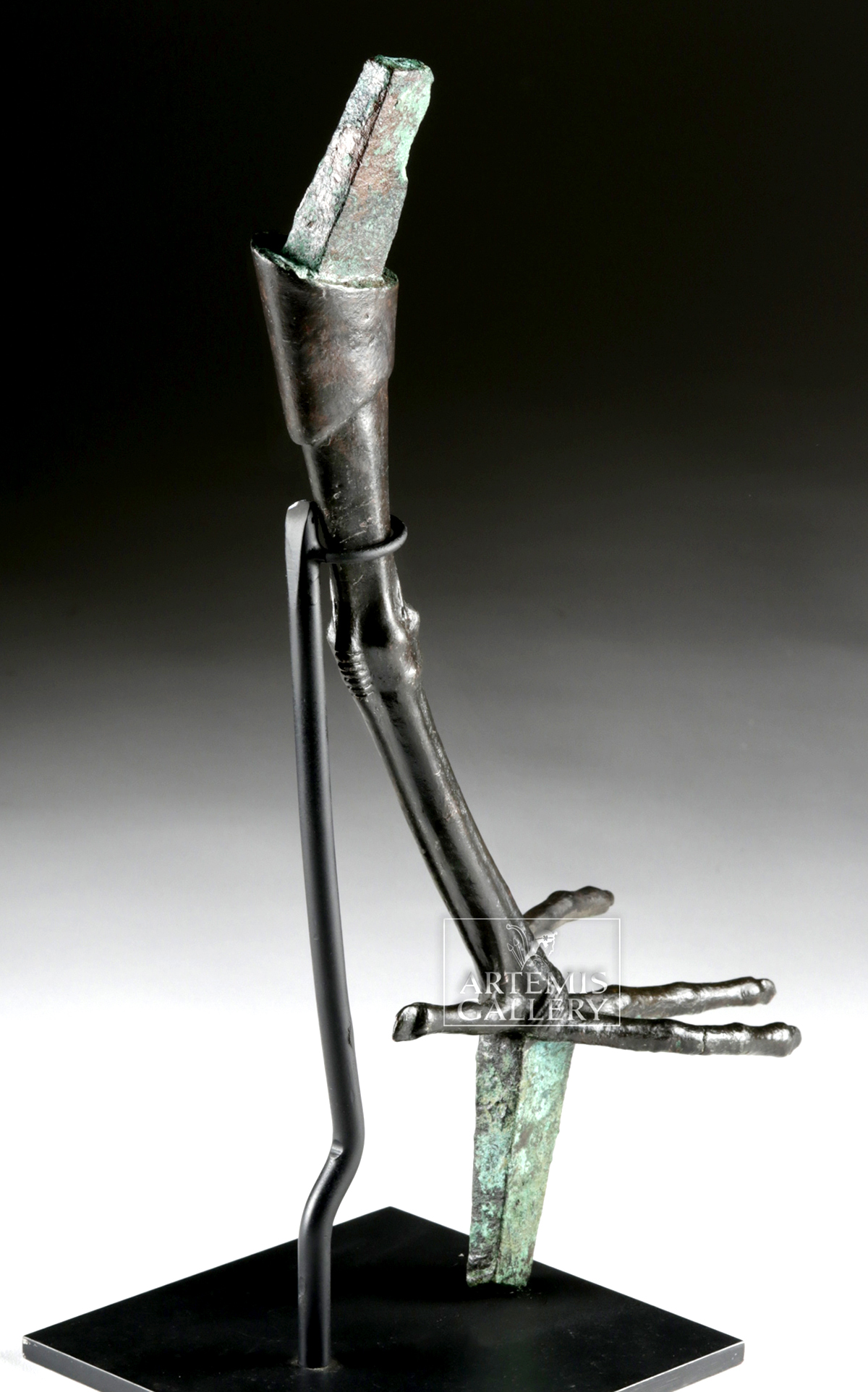 Lot 4b - Egyptian Late Period Bronze Ibis Leg w/ Foot