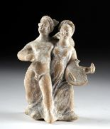 Lot 26a - Canosan Terracotta Eros & Psyche Arm in Arm
