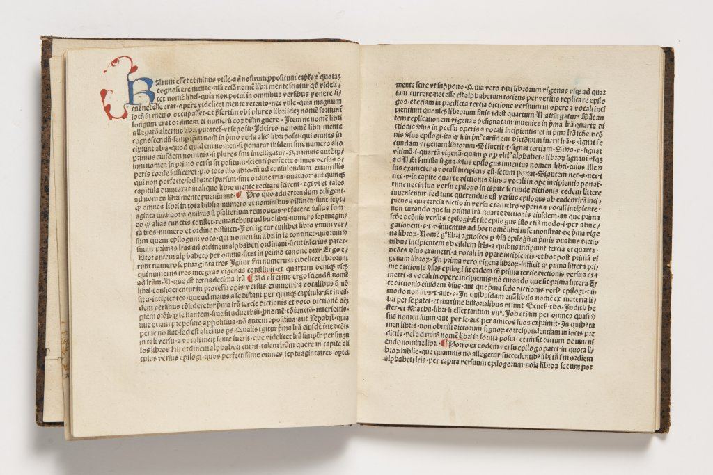 Lot 1 - PETRUS VON ROSENHEIM: ROSEUM MEMORIALE DIVINORUM ELOQUIORUM Ca. 1480 Germany Kolín nad Rýnem