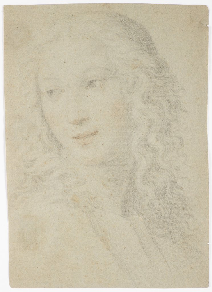Lot 27 - NEZNÁMÝ AUTOR: PORTRAIT OF A WOMAN IN RENAISSANCE STYLE Late 18th/early 19th century Pencil and