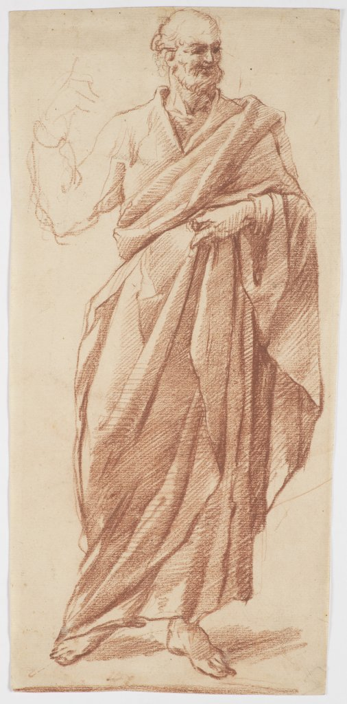 Lot 21 - GIACOPO PALMA IL GIOVANE 1549 - 1628: STANDING FIGURE OF A PHILOSOPHER Late 16th/early 17th