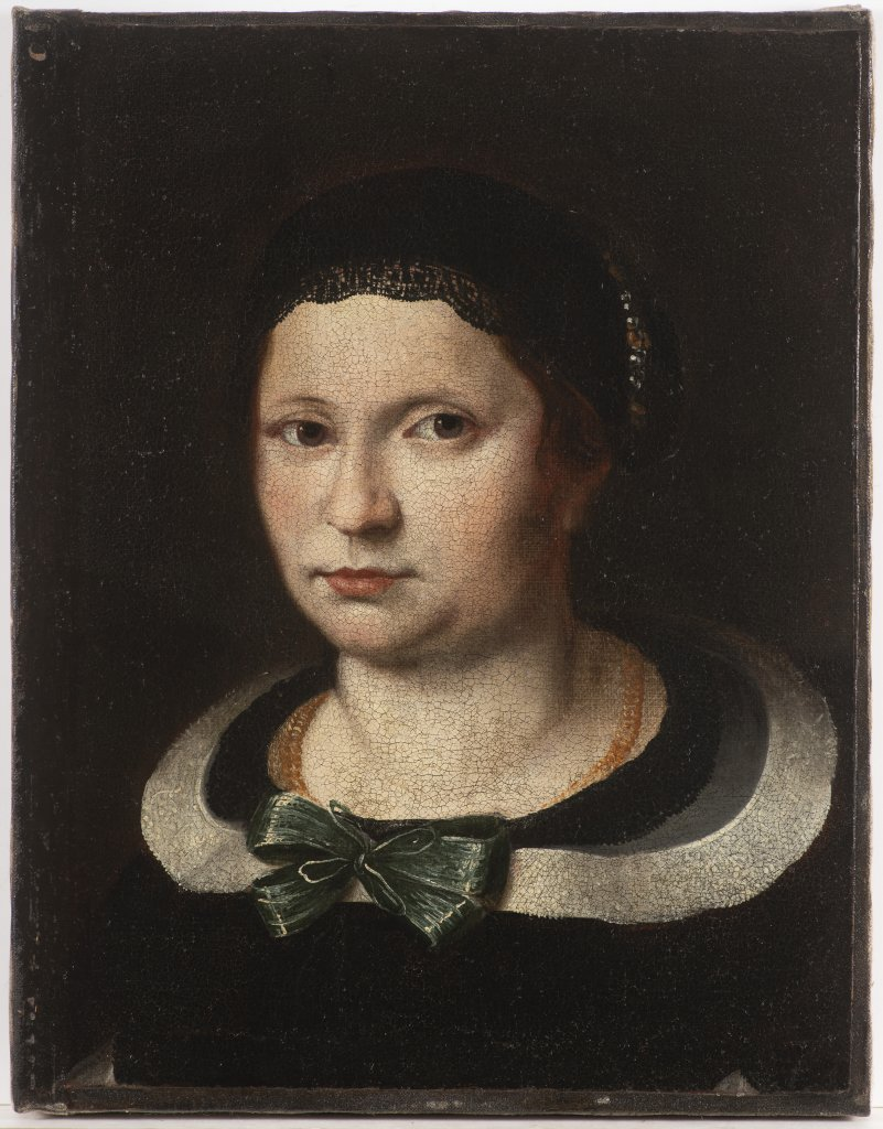 Lot 32 - KAREL ŠKRÉTA 1610 - 1674: A PORTRAIT OF A LADY After 1650 Oil on canvas 47 x 36,5 cm This painting