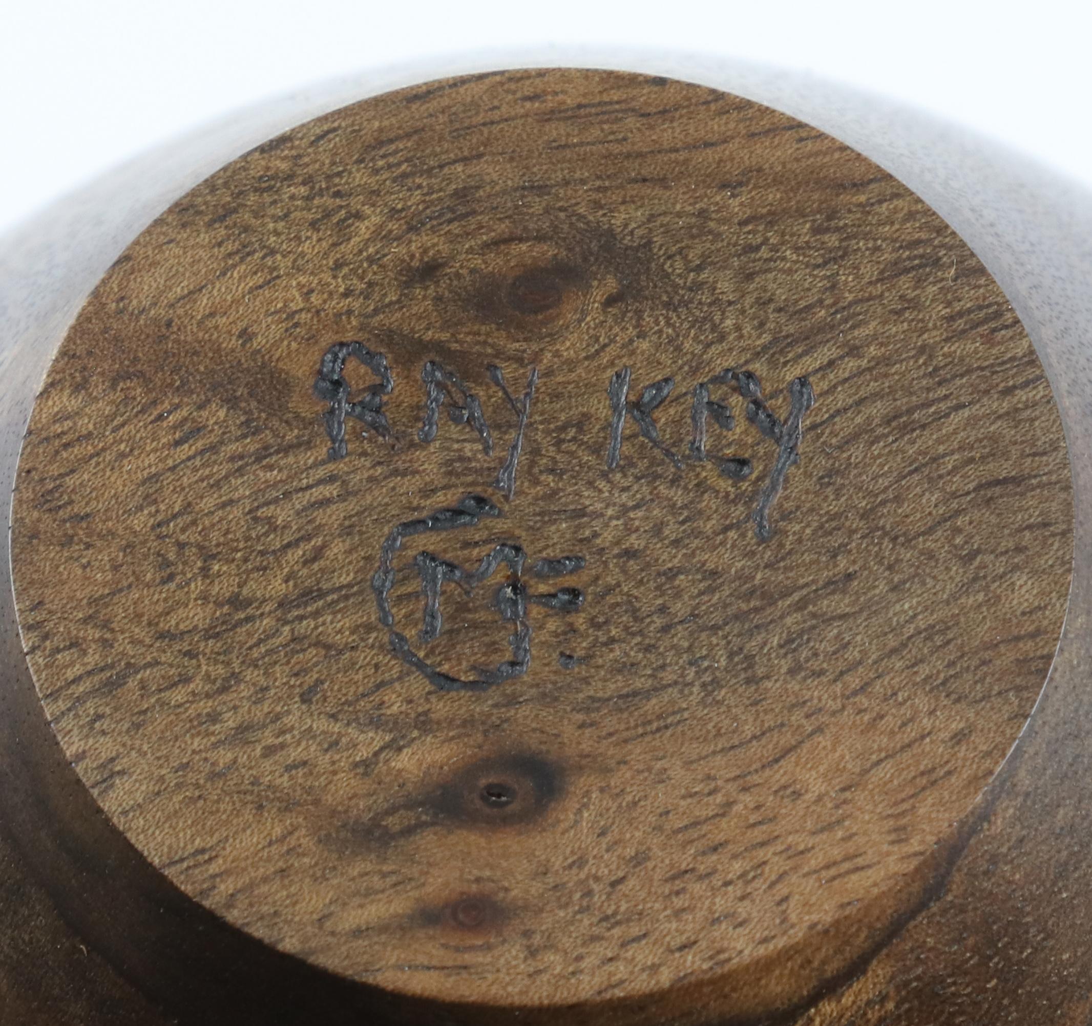 Lot 75 - Melvyn Firmager (UK) walnut and bog oak hollow form 16x10cm. Signed