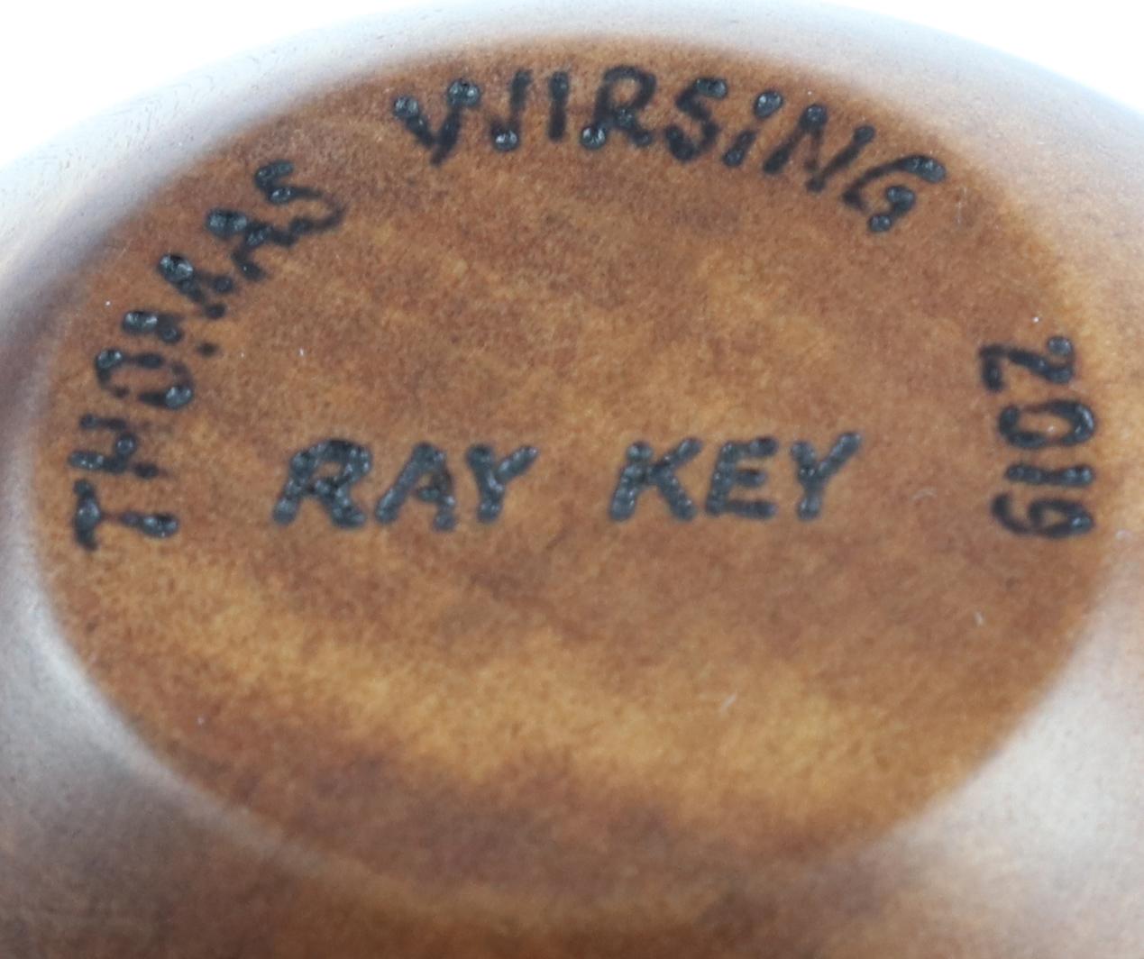 Lot 115 - Tom Wirsing (USA) Yew bowl 9x14cm. Signed