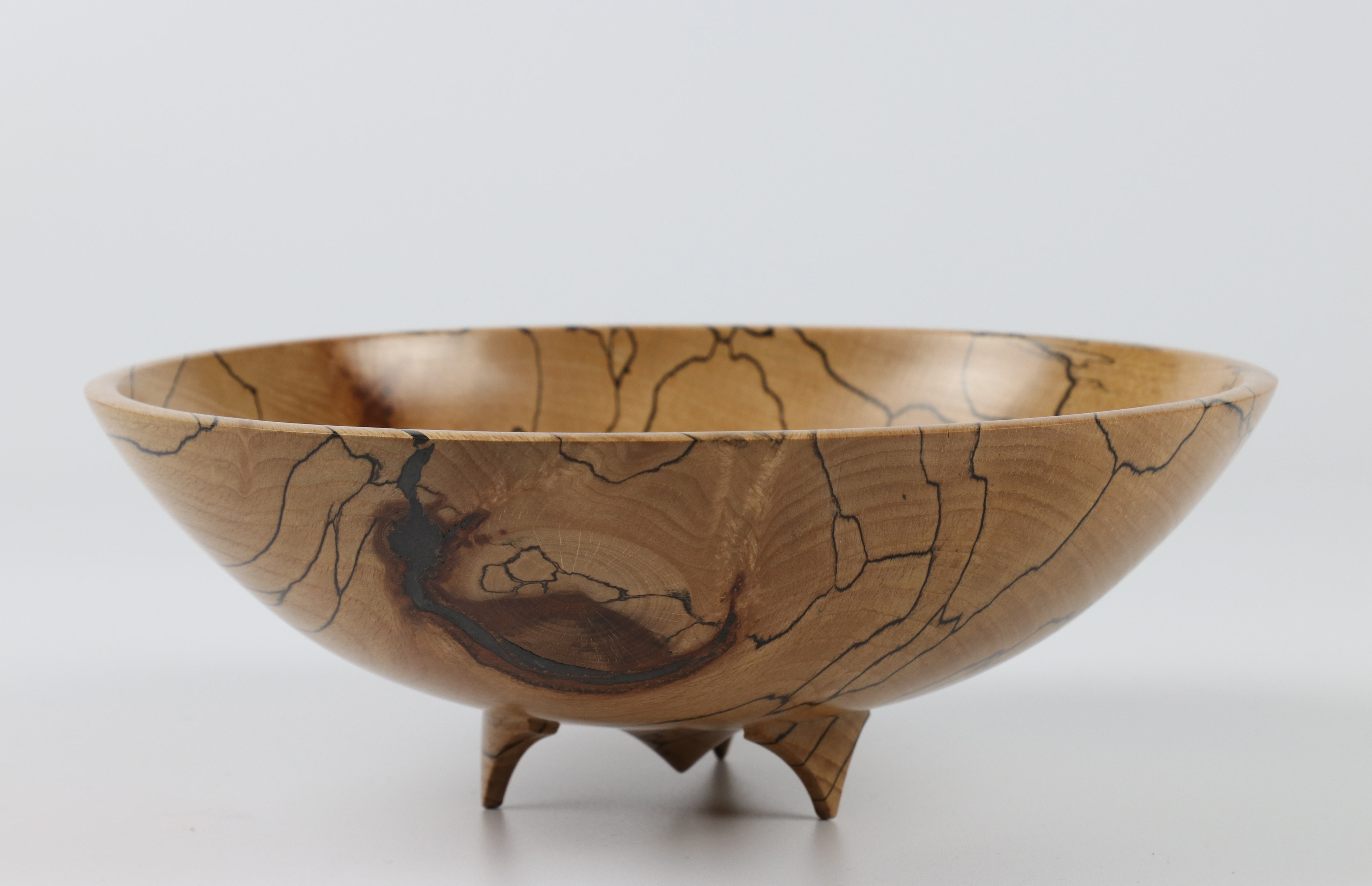 Lot 71 - Mary Ashton (UK) spalted beech footed bowl 8x20cm. Signed