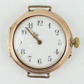 DamenarmbanduhrRG 585, urspr. wohl Lepine-Taschenuhr mit nachträglich angebrachten Ösen, rundes