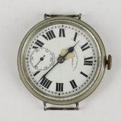 Herrenarmbanduhr - West End WatchSchweiz, Metall, weißes Emailzifferblatt, röm u. arab Ziffern,