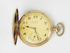 Herrentaschenuhr - Chronomètre WatchGG 585, Savonette, Dca.5,1cm, goldfarbenes Zifferblatt, arab.