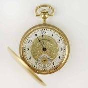Herrentaschenuhr - Chs Tissot & Filsvergold., Savonette, Dca.4,5cm, weißes Zifferblatt mit