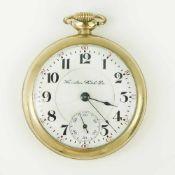 Herrentaschenuhr - Hamilton Watch CoLepine-Gehäuse, Dca.5,4cm, weißes Emailzifferblatt, arab.