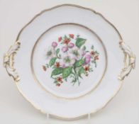 Prunkteller mit Blumenmalerei / A splendid plate with flowers, KPM/Berlin, 1849-1870Material: