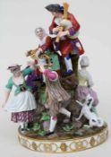 Seltene Figurengruppe 'Der Tanz' / A rare figural group 'The Dance', Michel Victor Acier, Meissen,