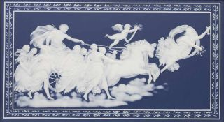 Reliefplatte 'Aurora - Göttin der Morgenröte' / A relief plate 'Aurora', Mettlach / Villeroy &