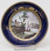 Ansichtenteller / A plate, Frankenthal, 1778Material: Porzellan, bemalt u. glasiert,Marke: