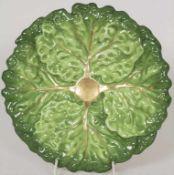 Kohlblatt-Schale / A cabbage leaf shaped bowl, Wien / Vienna, 1838Material: Porzellan, in