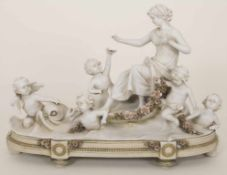 Figurengruppe 'Galathea auf der Muschel' / 'Galathea on the shell', E. A. Müller, Schwarza-Saalbahn,