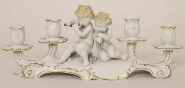 Kerzenleuchter mit zwei Putten / A candleholder with two cherubs, Karl Tutter (1883 - 1969),