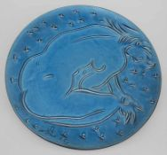 Hans Erni (1909-2015), Wandteller 'Weiblicher Akt' / A wall plate 'female nude'Material: Keramik,