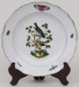 Teller mit Vogeldekor / A plate with birds, Meissen, 1. Hälfte 19. Jh.Material: Porzellan, polychrom