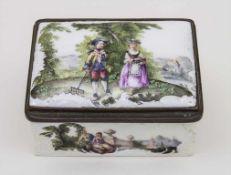 Tabatiere mit feiner Watteaumalerei / A Snuff-box with Watteau Décor, Meissen, um 1765Material: