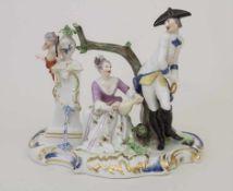 Frühe Figurengruppe einer galanten Szene / A figural group of a courting scene, Nymphenburg, Ende