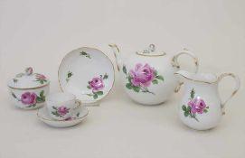 Egoist-Teeset / A tea set, Meissen, um 1924-34Set: bestehend aus einer Kanne, Zuckerdose,