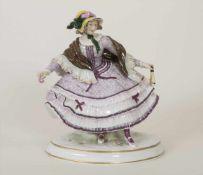 Junge Biedermeier-Dame / A young lady, Passau, um 1900Material: Porzellan, bemalt u. glasiert,Marke: