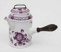 Kakaokanne/Schokoladenkanne mit Asiatischen Blumen / A Hot Chocolate Pot, Ludwigsburg, um