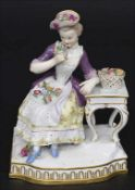 Allegorische Figur einer jungen Dame 'Der Geruch' / An allegorical figure of a young woman 'The