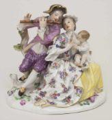 Figurengruppe einer galanten Famile / A figural group of a gallant familiy, Meissen, nach