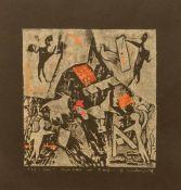 Gerd Mackensen(Nordhausen 1949 -, deutscher Maler, Bühnenbildner, Fotograf u. Bildhauer, Std. a.d.