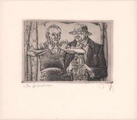 Baldwin Zettl(Falkenau 1943 -, deutscher Grafiker, Kupferstecher u. Buchillustrator, Std. a.d. HS f.