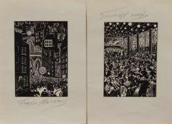 Franz Masereel(Blankenberghe/ Belgien 1889 - 1972 Avignon, Maler, Grafiker u. Illustrator, Std. a.d.