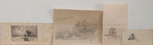 Louis Douzette(Triebsees 1834 - 1924 Barth, deutscher Landschaftsmaler mit Vorliebe für die