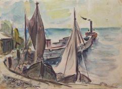 Erwin Fuchs(Stettin 1908 - ? Schwerin, deutscher Maler, Grafiker u. Holzbildhauer, Std. a.d.