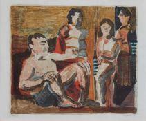 Rolf Lindemann(Magdeburg 1933 - 2017, deutscher Maler u. Grafiker, Std. a.d. HS für Bildende u.