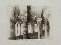 Kolet(Grafiker d. 2. Hälfte d. 20. Jh.)Der KreuzgangOriginal Radierung, 24,5 x 32,5 cm, ungerahmt,