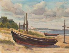 Helmut Meiner(deutscher Maler, Aquarellist u. Porzellanmaler d. 20. Jh.BinzAquarell, 36 x 47 cm,