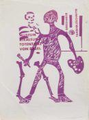 HAP Grieshaber(Rot a. d. Rot 1909 - 1981 Eningen, deutscher Grafiker u. bildender Künstler, Std. a.