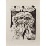 Willi Sitte(Kratzau 1921 - 2013, Zeichner, Grafiker, Hochschulprofessor, einer der führendsten